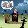 Cartoon: Unpopular (small) by toons tagged funerals,unpopular,unliked
