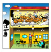 Cartoon: upstairs (small) by toons tagged noise,cattle,neighbors,apartment,living