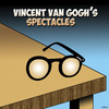 Cartoon: Van Gogh glasses (small) by toons tagged van,gogh,glasses,eyesight,spectacles,reading,ears,artists,painter,impressionism