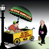 Cartoon: Veggie burgers (small) by toons tagged vegetarians,vegans,hot,dogs,food,stand