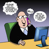 Cartoon: Voicemail (small) by toons tagged voice,mail,phone,messaging,sms,message,texting,answering,machine,manners