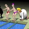 Cartoon: Walk on water (small) by toons tagged walk,on,water,swimming,races,swim,carnival,miracle