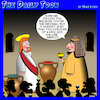 Cartoon: Water into wine (small) by toons tagged merlot,galilee,wine,savior,messiah,apostles