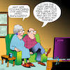 Cartoon: Wedding video (small) by toons tagged wedding,videos,regret,pubs,friends,old,couple,backwards