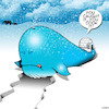 Cartoon: Whaling (small) by toons tagged whale,meat,eskimos,fishing,igloo,north,pole,snow