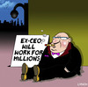 Cartoon: will work for millions (small) by toons tagged ceo,big,business,excessive,salary,begging,greed