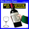 Cartoon: Wine for Dummies (small) by toons tagged wine,dummies,books,drinker,connoisseur