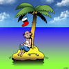 Cartoon: Wishful thinking (small) by toons tagged christmas,desert,island,stocking,gifts,holidays