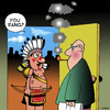 Cartoon: You rang? (small) by toons tagged westerns,indians,cowboys,smoke,signals,pipe,smokers,cigarettes