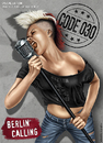 Cartoon: Berlin Calling (small) by toonsucker tagged berlin,wild,stadt,subkultur,jugend,youth,subculture,city,rock,music,musik,girl,mikro