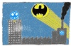 Cartoon: WOBHAM CITY (small) by Müller tagged vw,volkswagen,wobham,wolfsburg,batsignal,abgas,exhaust,betrug,nox,diesel
