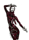 Cartoon: Red Latex Ridinghood (small) by Toonstalk tagged latex red ridinghood shiney wet wild style fashion