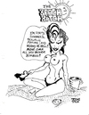 Cartoon: THE BEACH BITCH (small) by Toonstalk tagged cougar,bitch,topless,horney,stripping,swimsuit,hot,beach,bimbo