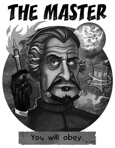 Cartoon: The Master (medium) by Garvals tagged dr,who,master,villain