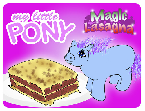 Cartoon: My Little Pony Magic Lasagna (medium) by prinzparadox tagged my,little,pony,lasagna,lasagne,pferdefleisch,pferdefleischskandal,horse,meat,horsemeat,scandal