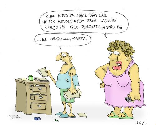 Cartoon: Orgullo (medium) by Luiso tagged man