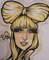Cartoon: lady gaga (small) by necmi oguzer tagged neco