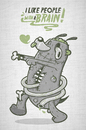 Cartoon: hug me (small) by bkopf tagged bkopf,like,people,with,brain,zombi,hug,me