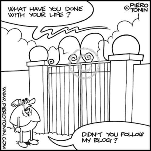 Cartoon: Blogger in Heaven (medium) by Piero Tonin tagged piero,tonin,blog,blogs,blogger,bloggers,social,network,networks,internet,dead,death,heaven,pearly,gates,god,afterlife,paradise,religion,religions,catholic,catholics,catholicism