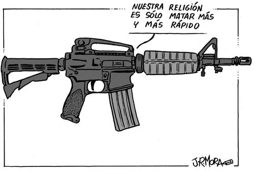 Cartoon: Fusil (medium) by jrmora tagged fusil,armas,violencia
