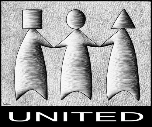 Cartoon: Unity In Diversity (medium) by BenHeine tagged unity,diversity,differ,difference,massive,shapes,religion,faith,colors,of,benetton,logo,handinhand,caste,race,roots,origin,custom,tradition,pen,point,voices,manner,triangle,square,rajaramramachandran,ramachandran,benheine,heine,poem,