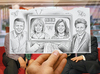 Cartoon: Pencil Vs Camera - BBC Breakfast (small) by BenHeine tagged bbc,breakfast,pencil,vs,camera,drawing,photography,art,benheine,bill,turnbull,sian,williams,susanna,reid,charlie,stayt,television,studio,hand,portraits,face,smile,quatro,presenters,uk,broadcast,news,culture,morning,show