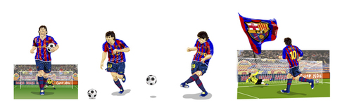 Cartoon: Lionel Messi (medium) by Fredy tagged football,barcelona,messi