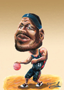 Cartoon: LeBron James (small) by Fredy tagged lebron,james,nba,basketball,cleveland,cavaliers