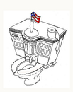 Cartoon: White House (small) by Fredy tagged white,house