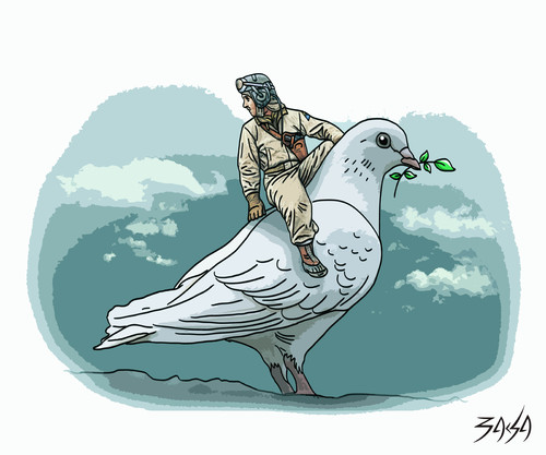 Cartoon: Dove of peace (medium) by bacsa tagged dove,of,peace