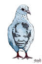 Cartoon: Nelson Mandela (small) by bacsa tagged mandela