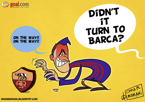 Cartoon: Luis Enrique the wizard (medium) by omomani tagged barcelona,italy,luis,enrique,roma,serie,spain