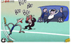 Cartoon: Coaching Chelsea is easy (small) by omomani tagged rafael,benitez,torres,chelsea,avram,grant,lampard,john,terry