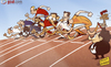 Cartoon: Euro 2012 race set to start (small) by omomani tagged andy,carroll,balotelli,cristiano,ronaldo,england,euro,2012,france,germany,italy,michel,platini,netherlands,ozil,portugal,ribery,spain,torres,van,persie