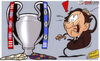 Cartoon: Michel reacts to Bayern v Chelse (small) by omomani tagged barcelona,bayern,munich,champions,league,chelsea,michel,platini,real,madrid