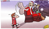 Cartoon: Mourinho leaves Casillas in the (small) by omomani tagged casillas,christmas,cristiano,ronaldo,mourinho,pepe,real,madrid,santa,claus