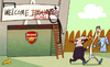 Cartoon: Napoli welcome Higuain (small) by omomani tagged arsenal,higuain,napoli,rafael,benitez,real,madrid,suarez,wenger