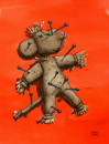 Cartoon: Puppe Ludwigs (small) by Uschi Heusel tagged woodoo,puppe,ludwig,ratten,nadeln