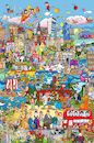 Cartoon: London Wimmelbild (small) by sabine voigt tagged london,wimmelbild,brexit,buckingham,tower,pauls,nelson,big,ben,potter,beatles,holmes,twist,dickens,paddington,londinum,themse,tate,bulldog