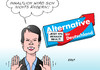Cartoon: AfD-Austritte (small) by Erl tagged afd,machtkampf,petry,lucke,rechtsruck,mitglieder,austritt,austrittswelle,rechtspopulismus,rechtsextremismus,inhalt,verpackung,karikatur,erl