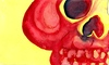 Cartoon: Calavera my Love (small) by robobenito tagged calavera skull red yellow eyes teeth black death muerte sleep color colors