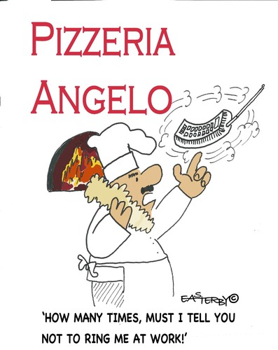 Cartoon: CARTOON CONTEST PIZZAPITCH (medium) by EASTERBY tagged pizzapitch