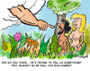 Cartoon: Adam and Eve in Paradise (small) by EASTERBY tagged adam and eve paradise