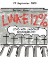 Cartoon: Cartoon gegen Links (small) by EASTERBY tagged german election wahl 2009