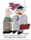 Cartoon: Free of trouble Loan (small) by EASTERBY tagged beggar business