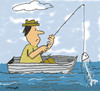 Cartoon: Gone fishing (small) by EASTERBY tagged fishing boats fisherman