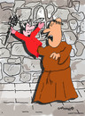 Cartoon: Holy Orders 12 (small) by EASTERBY tagged glove,puppets,monks,devils