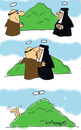 Cartoon: HOLY ORDERS 2 (small) by EASTERBY tagged monks,halos,nuns