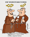 Cartoon: In veritas vino (small) by EASTERBY tagged monks wine