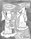 Cartoon: Jehovas Engel (small) by EASTERBY tagged angels heaven jehovas witnesses